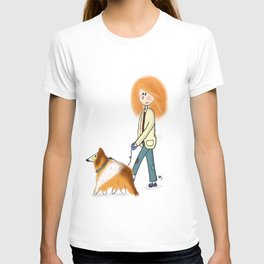 Ginger owner and dog T-shirt
