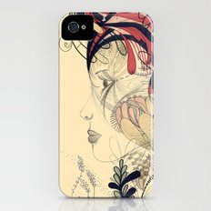 flame flower iPhone (4, 4s) Slim Case