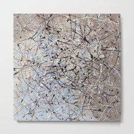 High Again - Jackson Pollock style abstract drip painting by Rasko Metal Print