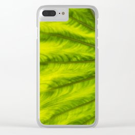 waves of green color Clear iPhone Case