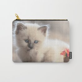 #Cute #Holy #Burma #cat #puppy Carry-All Pouch