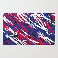 patriotic Area & Throw Rugs featuring Patriotic Camouflage by Stacey Lynn Payne
