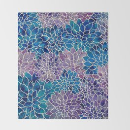 Floral Abstract 34 Throw Blanket