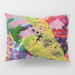 Nordic art, abstract print, abstract painting, abstract art print, abstract wall art, pink and blue Pillow Sham
