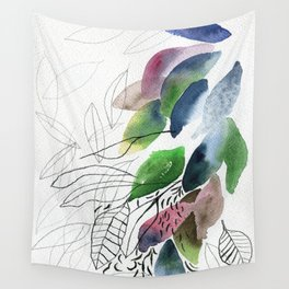 Leaves gone Wall Tapestry