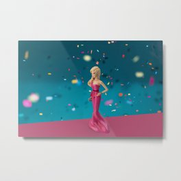 Barbie on pink carpet Metal Print
