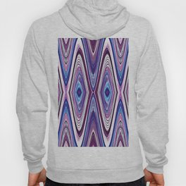Abstract Mod Blue, Pink and Purple Design 635 Hoody