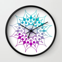 Mandala #2 (Purple Pink Turquiose) Wall Clock