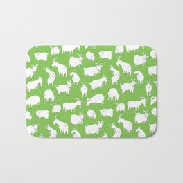 Green Goats Bath Mat