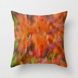 Autumn Smear Throw Pillow