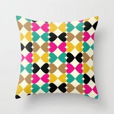 Bow Hearts #2 Throw Pillow