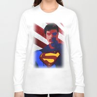 superman Long Sleeve T-shirts featuring Superman by Scar Design