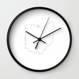 Ohio is The Heart of it All Wall Clock