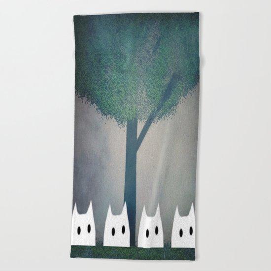 cat-185 Beach Towel