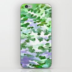 Foliage Abstract In Green and Mauve iPhone & iPod Skin