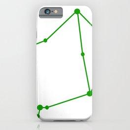Libra (Green & White) iPhone Case