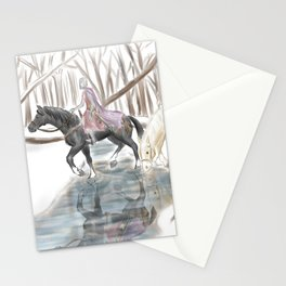 Winter Knights Stationery Cards