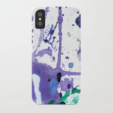 purple splash Slim Case iPhone X