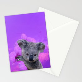 Koala and Orchid Stationery Cards