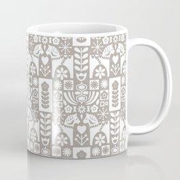 Swedish Folk Art - Warm Gray Coffee Mug