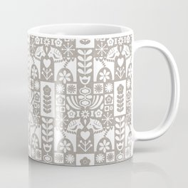 Swedish Folk Art - Warm Gray Coffee Mug
