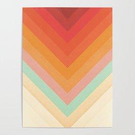 Rainbow Chevrons Poster