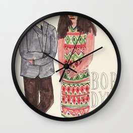 Bob Dylan & Joan Baez Wall Clock
