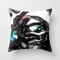study Throw Pillows featuring Study by John Hansen