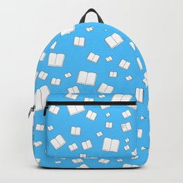 Blue Flying Books Pattern Backpack
