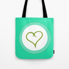 Green Heart with Love Tote Bag
