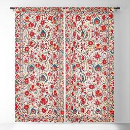 Bokhara  Antique Uzbek Suzani Embroidery Print Blackout Curtain