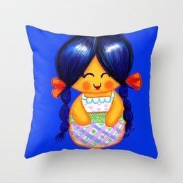 Chapina Kokeshi Throw Pillow