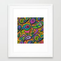 paisley Framed Art Prints featuring Paisley by Shelly Bremmer
