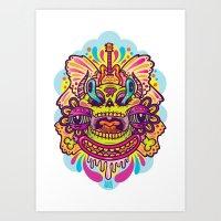 Wild Faces Art Print