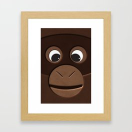 close up monkey Framed Art Print