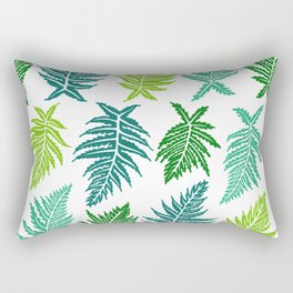 Inked Ferns – Green Palette Rectangular Pillow