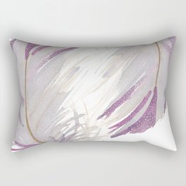 Feather Gray Rectangular Pillow