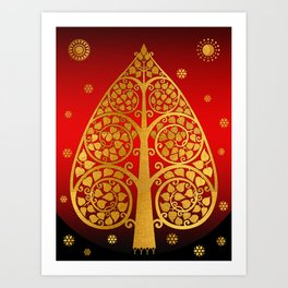 Bodhi Tree0502 Art Print