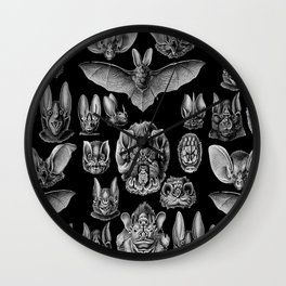 1904 Haeckel Chiroptera Wall Clock