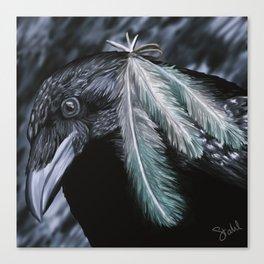 Raven Painting Canvas Print
