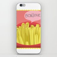 fries iPhone & iPod Skins featuring French Fries by Elisehill3