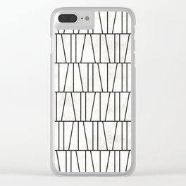 Mid-Century Modern Pattern No.6 - White Concrete Clear iPhone Case