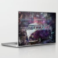 volkswagon Laptop & iPad Skins featuring Night time Camper by yairi