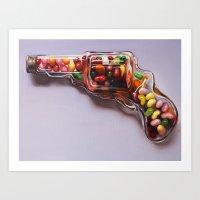 Glass Revolver Art Print
