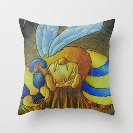 Queen Bee Terraria Throw Pillow