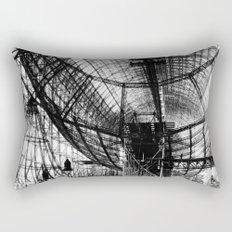 Airship under construction Rectangular Pillow
