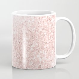She Sparkles Rose Gold Pink Marble Luxe Geometric Coffee Mug