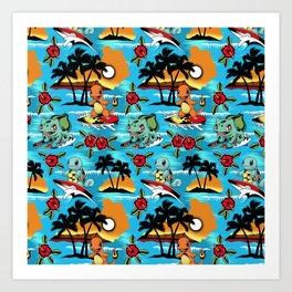 Hawaii Pok and GO Art Print