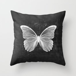 Butterfly in Black Throw Pillow