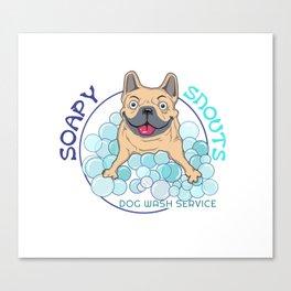 soapy snouts logo2 Canvas Print